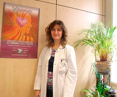 Marivi Mazo, coordinadora del voluntariado en el Hospital Beata María Ana