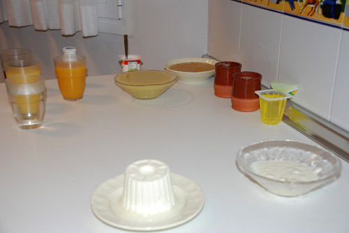 Alimentos con distinta consistencia y viscosidad