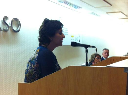 Dolors Safont durante su intervención en la jornada de FEDACE