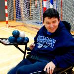 Entrenar a boccia ya forma parte de la vida de los deportistas de la Agrupación Deportiva Aita Menni