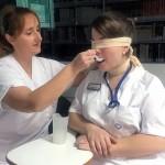 Taller práctico y vivencial sobre disfagia en el Centro Hospitalario Padre Menni de Santander