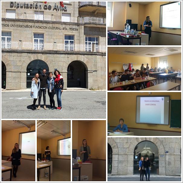 La Unidad de Daño Cerebral del C.H. Benito Menni de Valladolid sigue colaborando con la Universidad Católica de Ávila