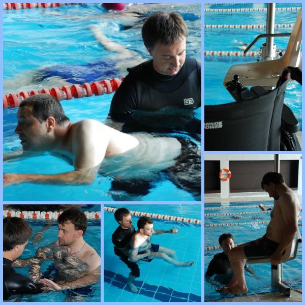 Sesión de terapia física acuática