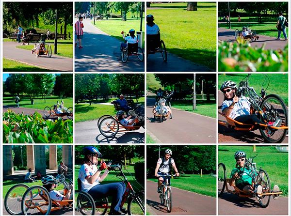 Integrantes del equipo ciclista de la Agrupación Deportiva Aita Menni