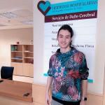Pablo comparte en el instituto su aprendizaje sobre el daño cerebral