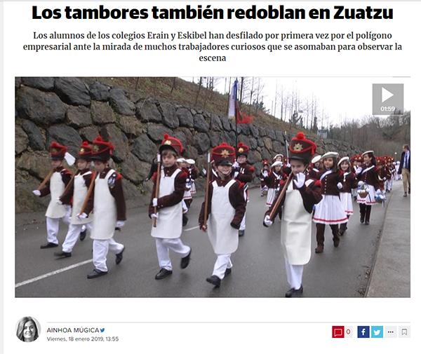 Tamborrada Eskibel Diario Vasco