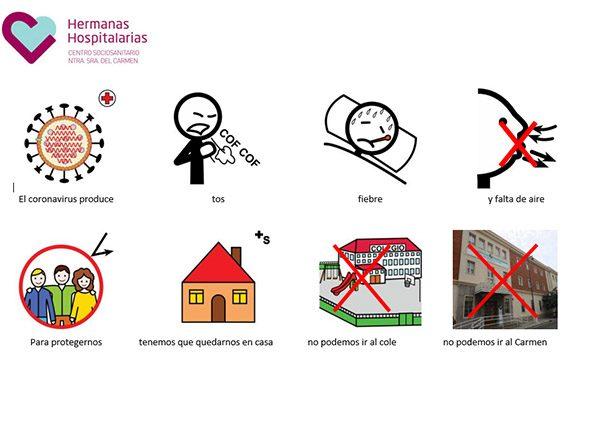 Comunicación sobre el coronavirus en niños con TEA